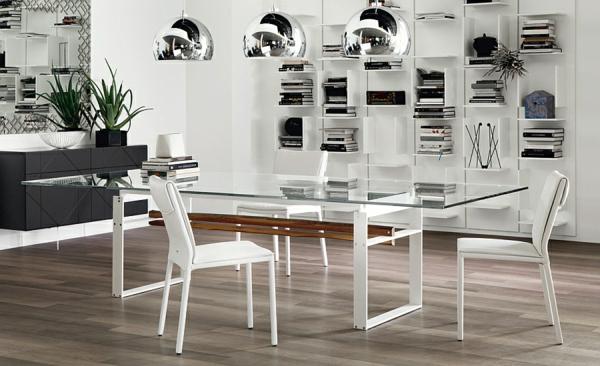 Moderne Esstische mit Stühlen esszimmer hochglanz