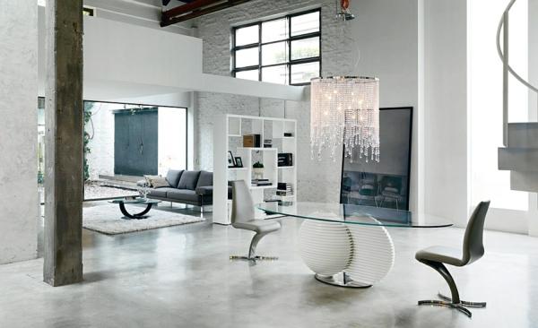 Moderne Esstische mit Stühlen kronleuchter perlen