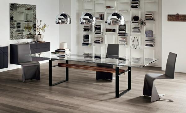 Moderne Esstische mit Stühlen sphere glas tischplatte