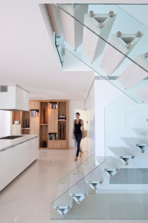 Moderne Holztreppen geländer elegant wohnung