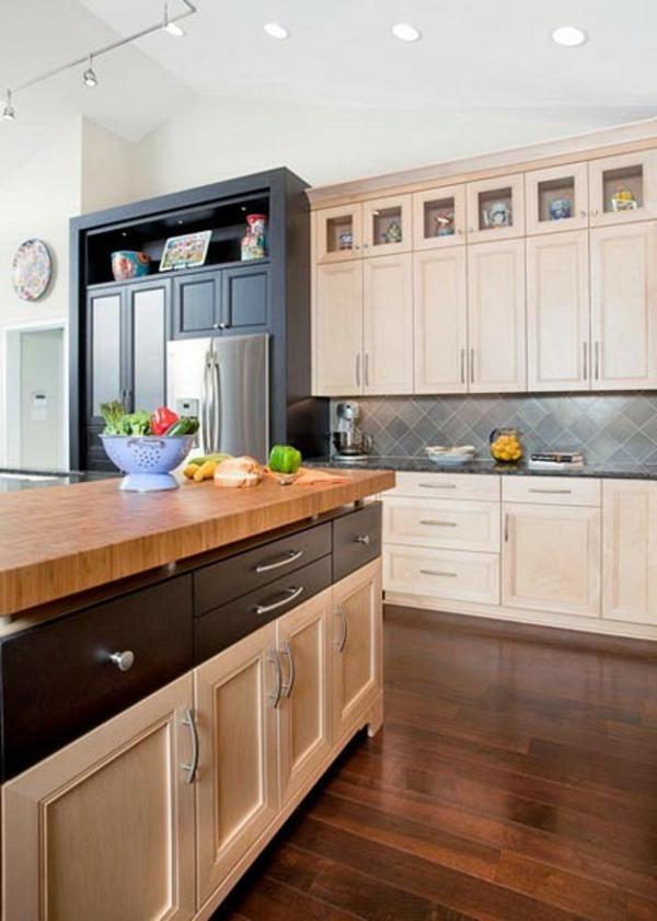 holz Moderne Küchengestaltung Ideen küchenrückwand