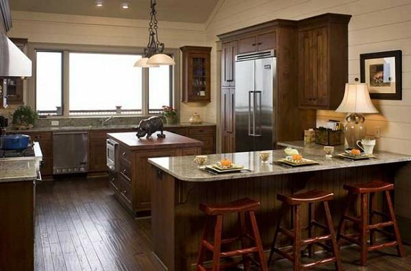 Moderne Küchengestaltung Ideen holz hocker holz arbeitsplatte