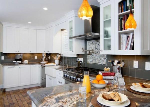 holz weiß Moderne Küchengestaltung Ideen  küchenschrank