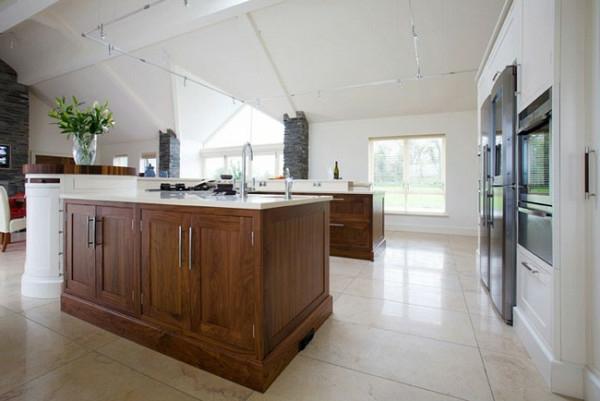 Moderne Küchengestaltung Ideen kücheninsel weiß