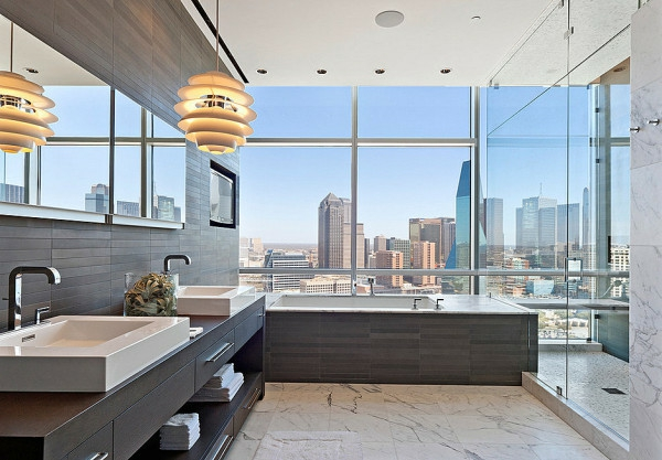 Moderne luxuriöse details im badezimmer