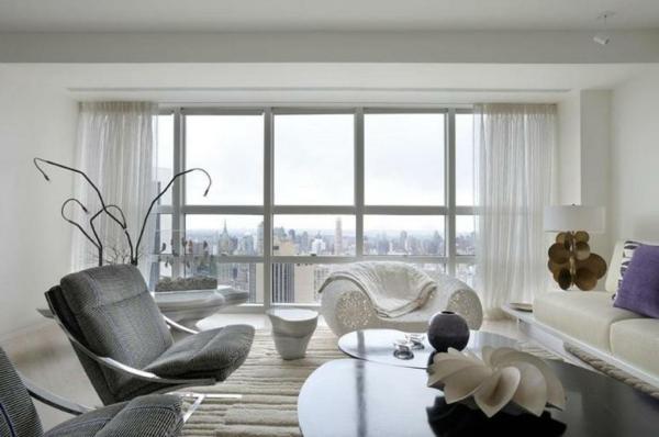 Modernes Wohnen eigenartig einrichtung ideen wandgestaltung designer