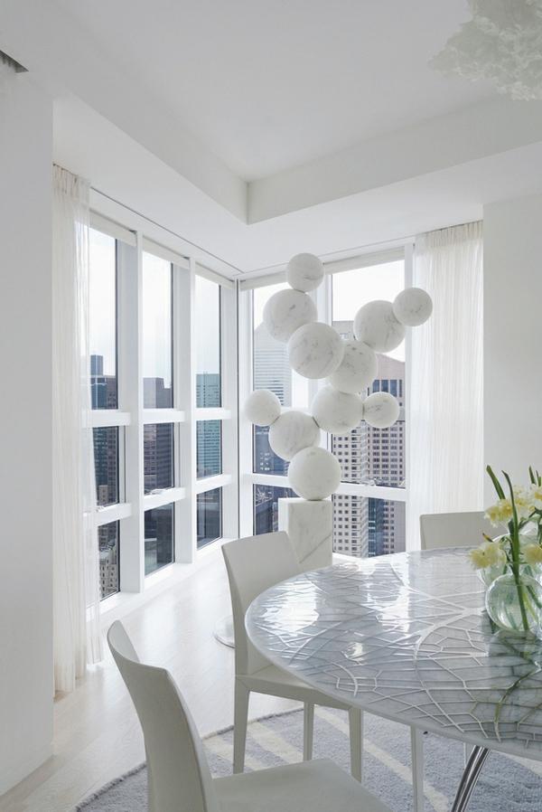 Modernes Wohnen eigenartig einrichtung ideen wandgestaltung esszimmer