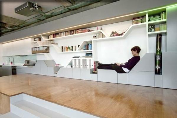 Modernes Wohnen eigenartig einrichtung ideen wandgestaltung futuristisch