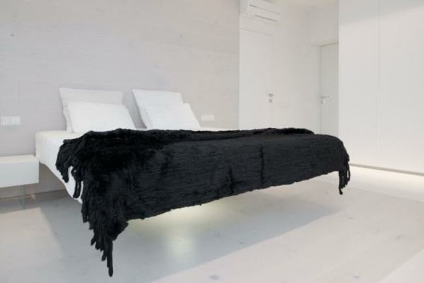 Modernes Wohnen eigenartig einrichtung ideen wandgestaltung schlafzimmer