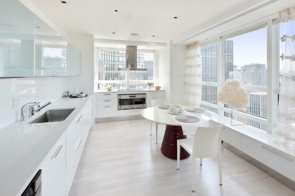 schönes Wohnen eigenartig küche esszimmer