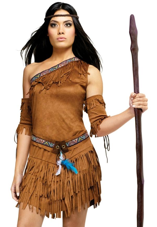 Pocahontas Kostüm zeichnung erdfarben