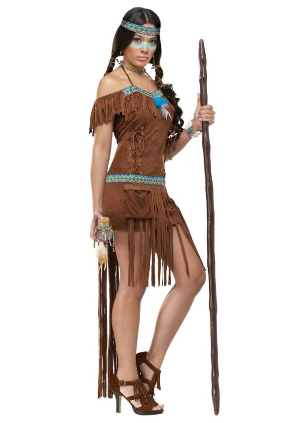 Pocahontas Kostum Karnevalskostume Fur Damen