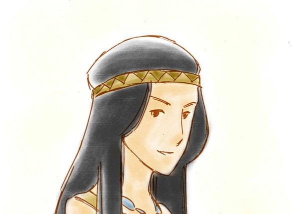 Pocahontas Kostüm zeichnung stoff haarband