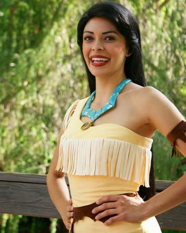 Pocahontas Kostüm zeichnung stoff mode