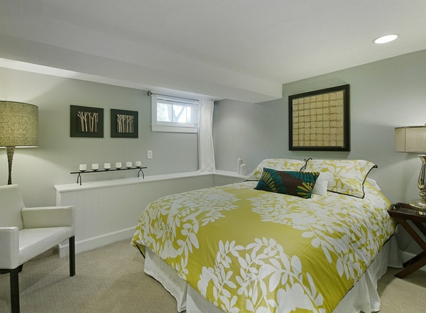 Schlafzimmer im Keller einrichten bettwäsche floral