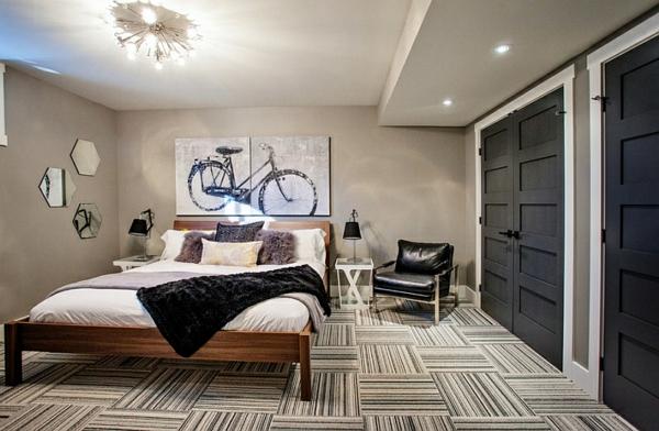 Schlafzimmer im Keller einrichten groß ergonomisch