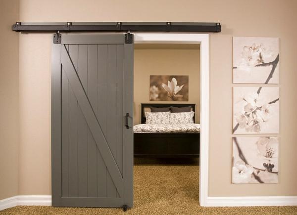 Schlafzimmer im Keller einrichten schiebetür grau