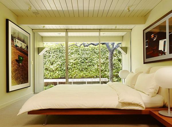 Schlafzimmer minimalistisch einrichten bettdecke weich