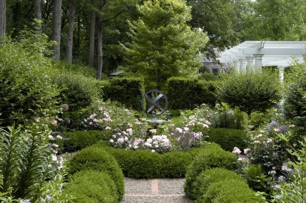 landschaft gartengestaltung Sonnenuhr  Garten traditionell