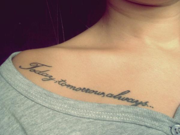Schriften tattoo sprüche damen