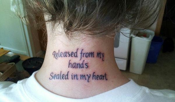 Tattoo Schriften tattoo sprüche hals