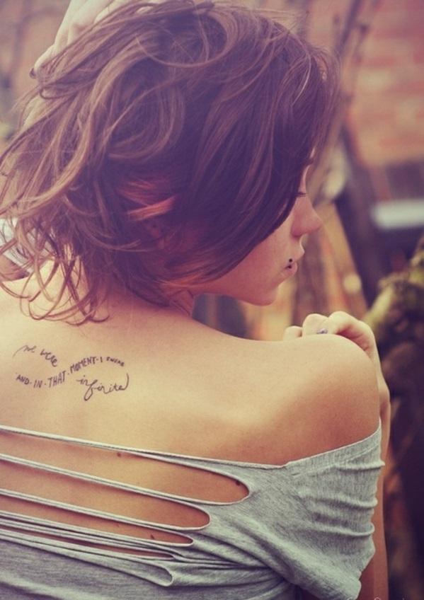 Schriften tattoo sprüche hinter