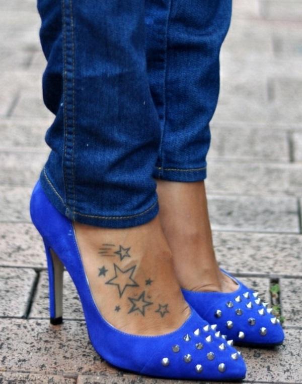 Tattoo Sterne damen fuß