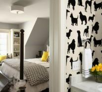 Contemporary Designs und Tier Muster mit Hunden