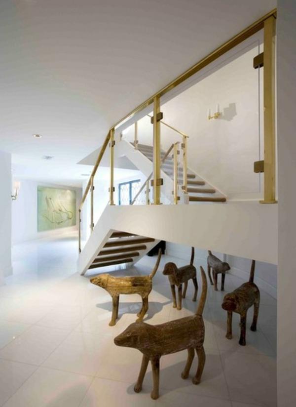 Tier Muster mit Hunden contemporary treppe geländer weiß