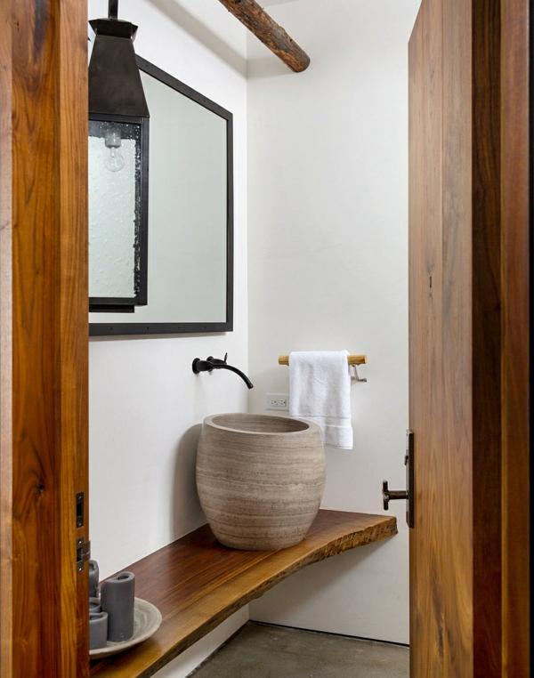Uniques waschbecken rustikales badezimmer