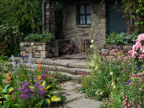 Vorgarten gestalten 33 bilder und gartenideen for Gartendeko rustikal