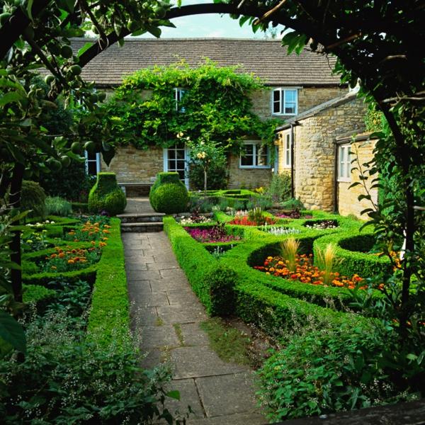frisch leuchtend grün vorgarten ideen