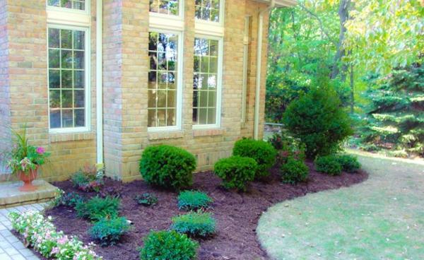 Vorgarten mit Kies gestalten schön