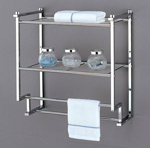 Wandregale für Badezimmer metall tücher