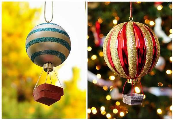 Wohnaccessoires selber machen fliegende maschinen weihnachtskugel