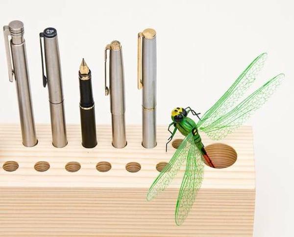 Wohnaccessoires selber machen kugelschreiber halter