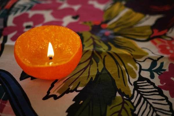 mandarine selber machen orange kerzenlicht