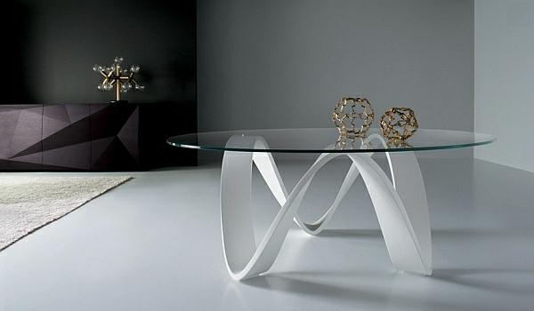 Wohneinrichtung Ideen couchtisch form glas