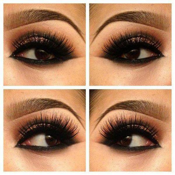 abend party make-up tipps augenbrauen färben