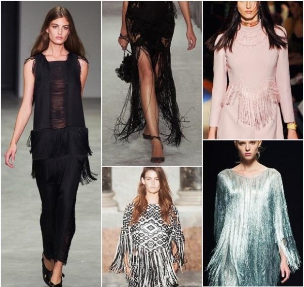 aktuelle modetrends 2014 ideen fransen kleider
