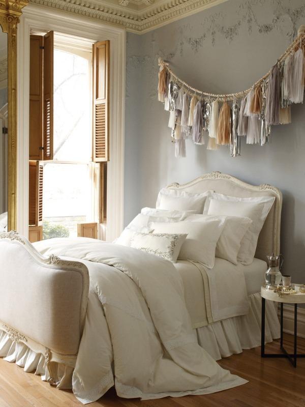 aktuelle modetrends 2014 ideen fransen wohntrends schlafzimmer bett wandgestaltung
