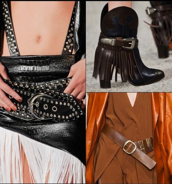 aktuelle modetrends ideen cowgirl leder gürtel stiefeln