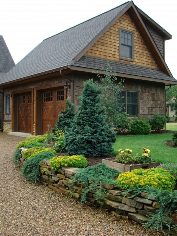amerikanisch design landschaft Gartengestaltung mit Kies und Steinen