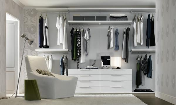 ankleideraum möbel begehbarer kleiderschrank planen regalsysteme