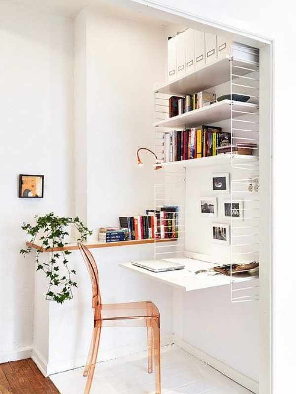 Arbeitszimmer Wohnideen Stauraumideem Drahtregal Schreibtisch Arbeitsplatz