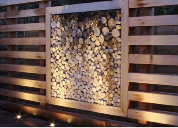 Moderne gartenz une schaffen sichtschutz im au enbereich - Holzzaun modern ...