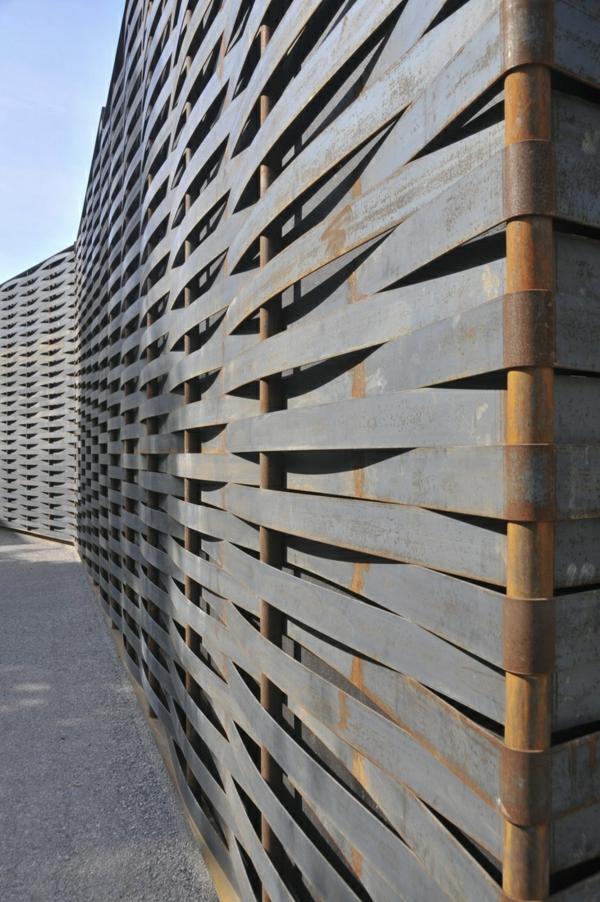 Art Zaun Metall Außenbereich Design