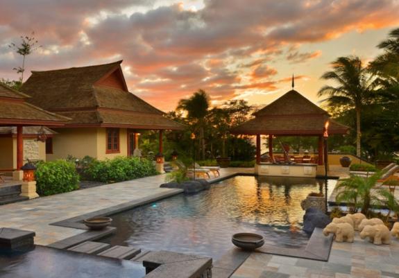 Garten Japanischer Stil Pool Gartenteich Wasserspiele Wohnzimmer