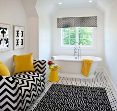 Badezimmer Ideen In Schwarz-weiß - 45 Inspirierende Beispiele Badezimmer In Den Farben Schwarz