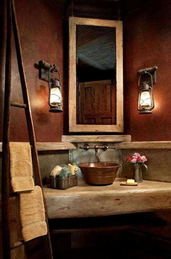 baden wie im mittelalter holz und beton rustikale badezimmer einrichtung